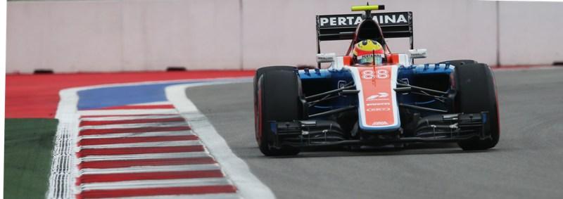 Rio Haryanto (IDN) Manor Racing MRT05. 30.04.2016. Formula 1 World Championship, Rd 4, Russian Grand Prix, Sochi Autodrom, Sochi, Russia, Qualifying Day.